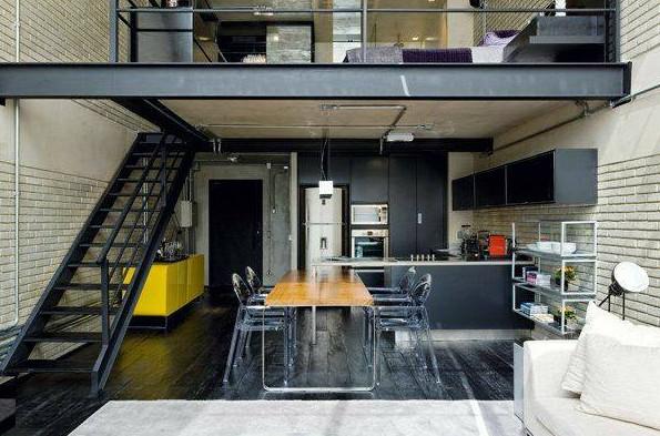 rumah keren konsep mezanine