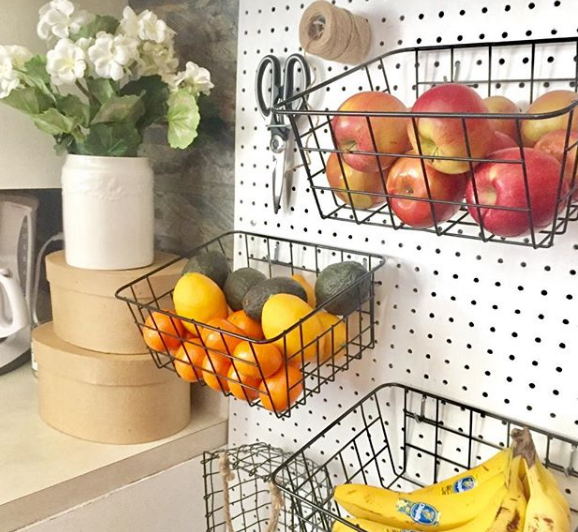 kitchen pegboard buah