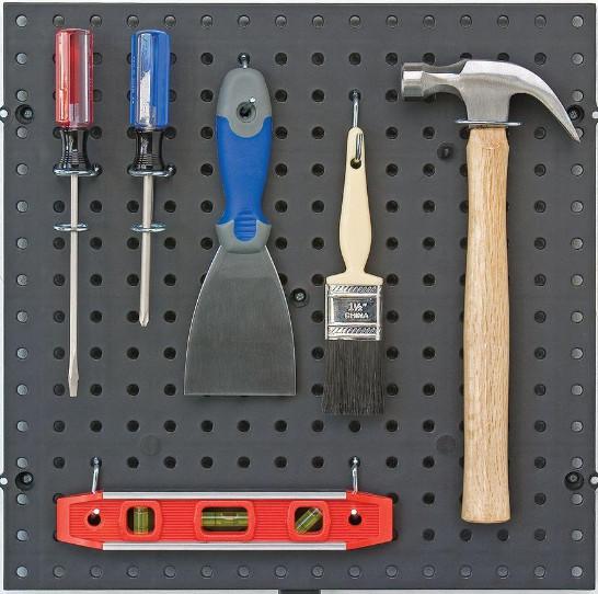 pegboard untuk alat-alat tukang kuas palu obeng cape
