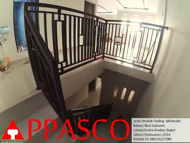 railing tangga minimalis hitam