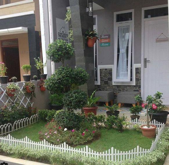taman keren unik rumah minimalis