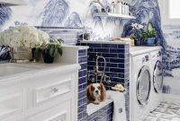 Contoh Ruang Laundry yang Mewah Warna Biru
