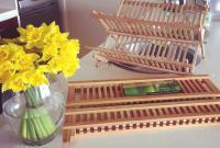 bamboo dish rack - Rak Piring dari Bambu
