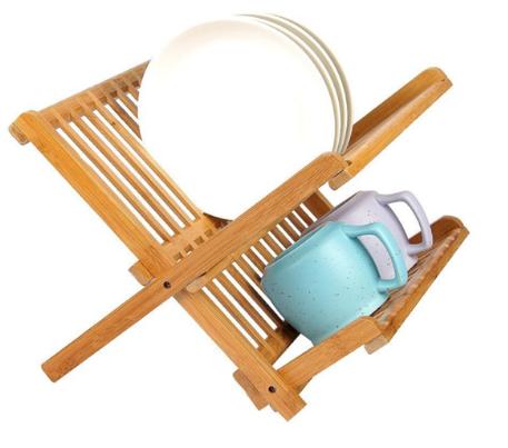 rak piring kecil dari bambu