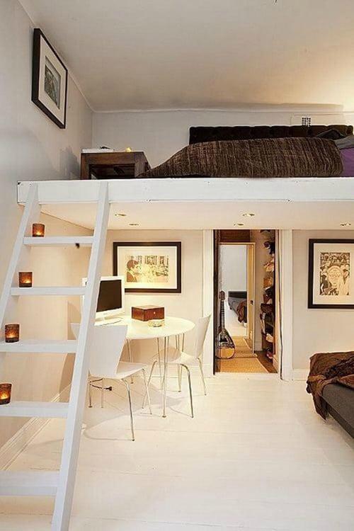 dekorasi romantis ruangan mezzanine dalam rumah