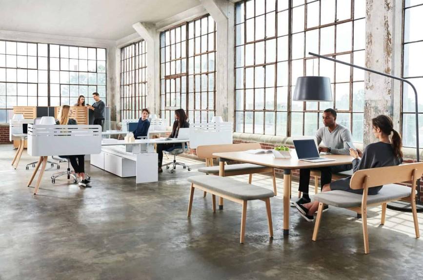 Desain Ruang Kantor Terbuka Modern