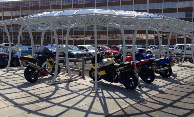 contoh desain tempat parkir ada kanopinya