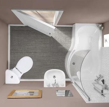 interior kamar mandi mungil
