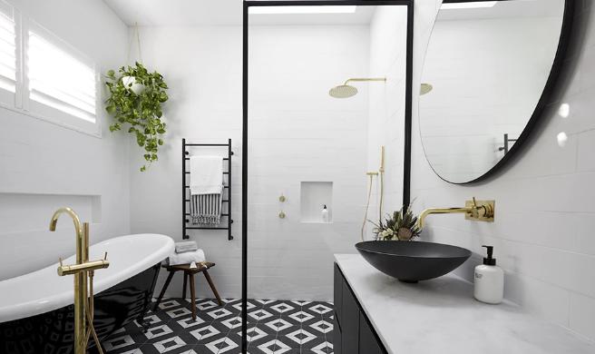 kamar mandi luas desain apik