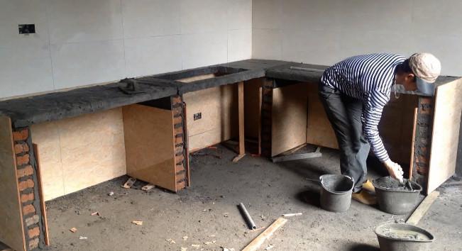 proses pengecoran meja dapur