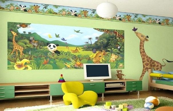 dekorasi kamar anak kebun binatang