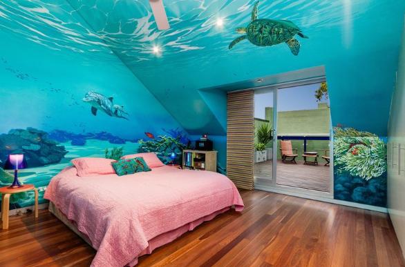 dekorasi kamar anak tema bawah laut