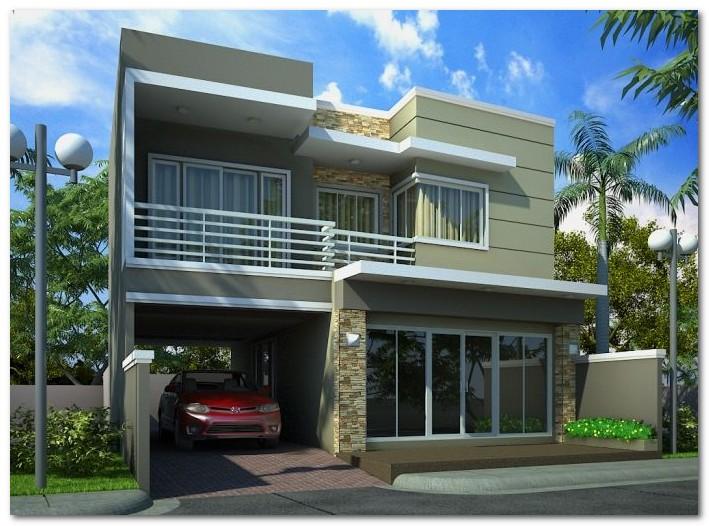 Desain Rumah Minimalis Luar Dan Dalam  desain tampak depan rumah minimalis yang unik dan berkarakter