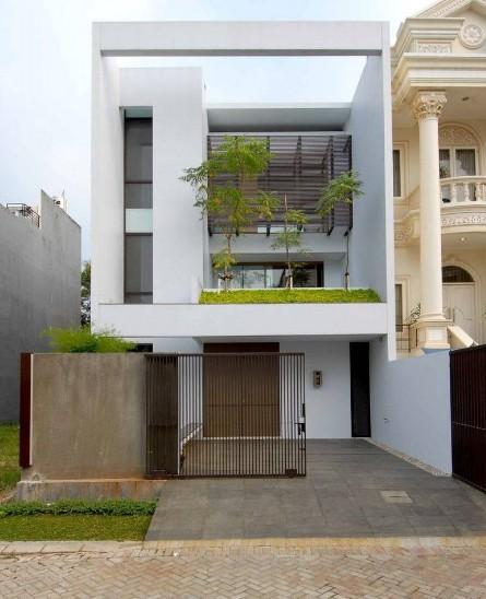 gaya rumah minimalis rumah tampak depan cool