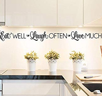 kitchen set dengan stiker