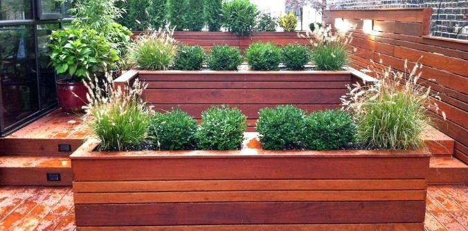 taman minimalis di atas rumah