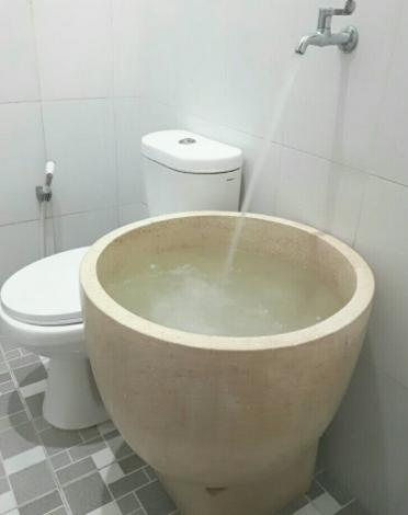 bak mandi model bulat keramik