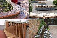 Bangku taman sederhana dari rotan kayu