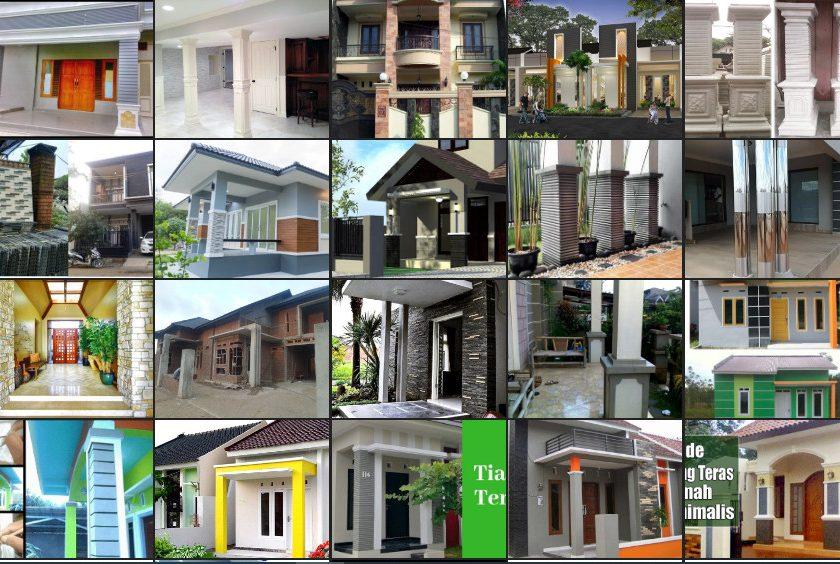 Desain Rumah Bagus Mewah 23 Model Tiang Rumah Minimalis Modern