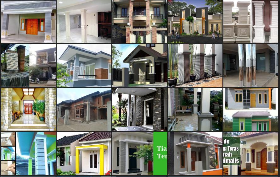 Tips Desain Tiang Teras Rumah Minimalis Modern Denah Rumah Desain Rumah Unik