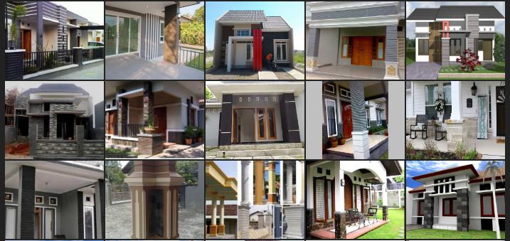 Tips Desain Tiang Teras Rumah Minimalis Modern Denah Rumah