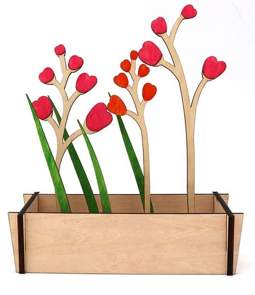 contoh ilustrasi triplek untuk vas bunga