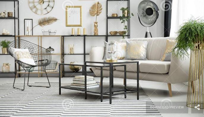 Kursi Meja Ruang Tamu Besi yang Menawan Cantik