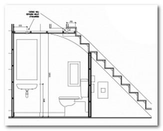 Contoh Denah Toilet di Bawah Tangga