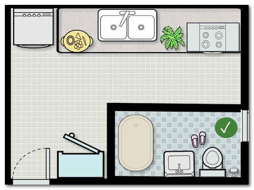 Tips Kamar Mandi dan Dapur Letaknya