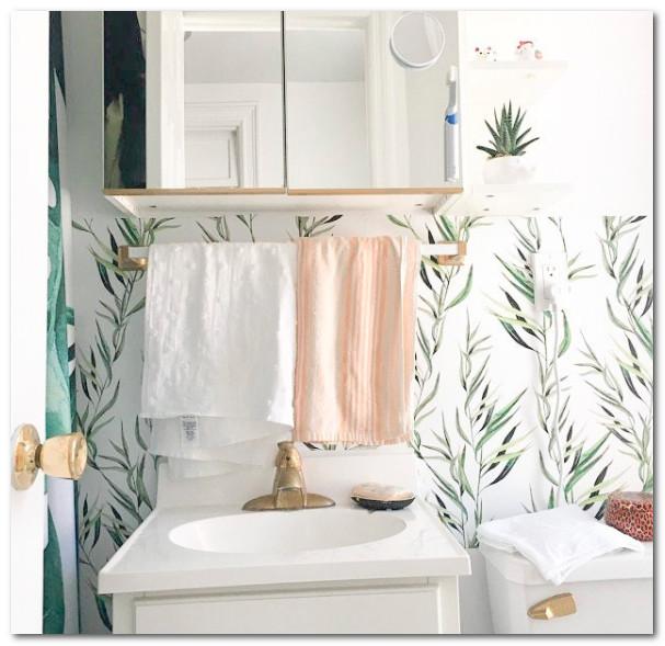 contoh wallpaper untuk kamar mandi