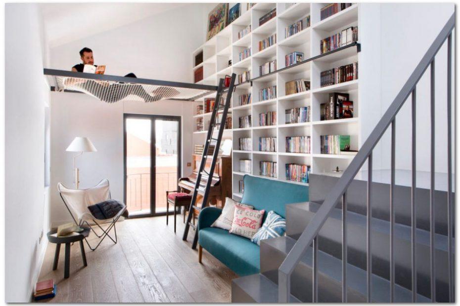 konsep mezzanine untuk perpustakaan