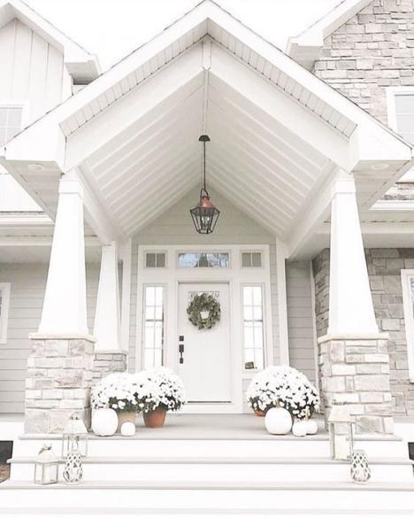 Desain Pintu Mewah Keren Elegan Putih
