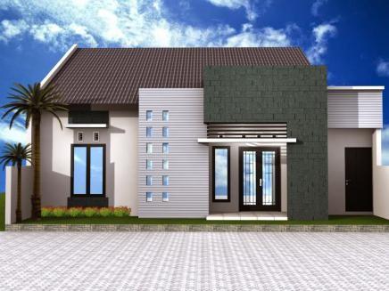 Rumah letter u bentuk garasinya