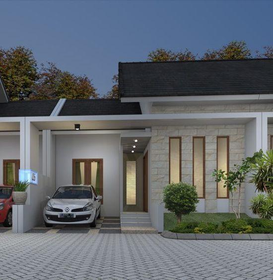 Model Rumah Pintu Samping Keren