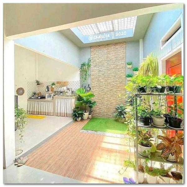 desain dapur terbuka taman belakang rumah tipe 36 by ickajulya