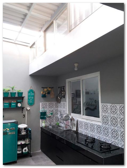 atap dapur sebagai ventilasi udara dan cahaya