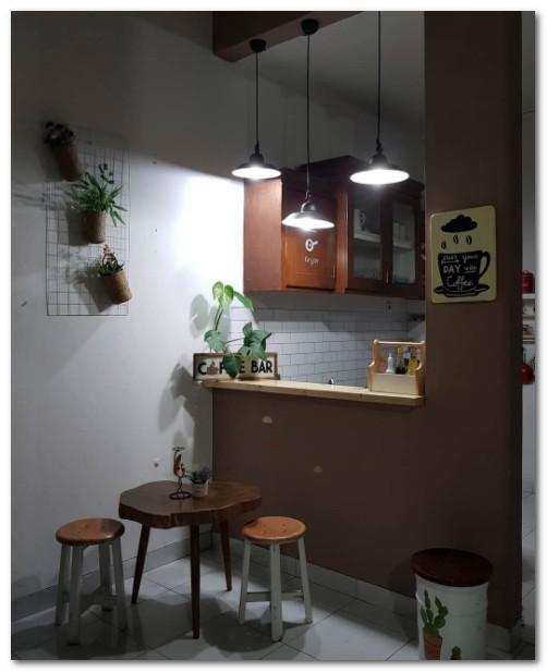 konsep mini bar dapur sempit keren