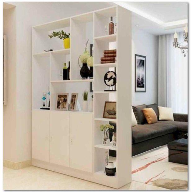sekat ruangan dengan furniture dari triplek