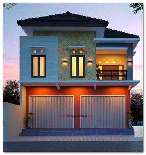 desain cantik rumah gabung dengan toko