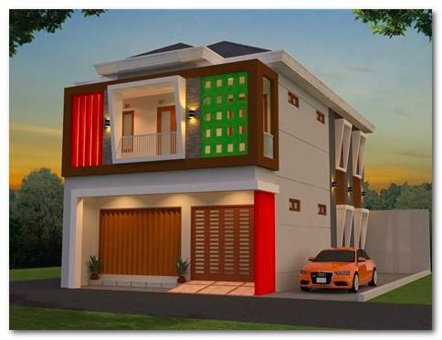 desain rumah 2 lantai gabung toko