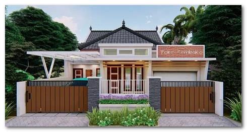 desain sketsa rumah dan toko gabung